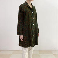Hand Block Printed A Line Tunic Shirts (Green Ajrakh)