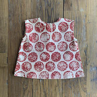 Hand Block Print Blouse #1 (Red Marigold)