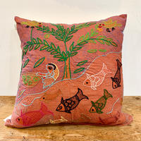 Sujini Cushion Cover 40*40 (Tree of life and fishes)
