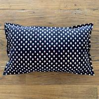 Hand Block Printed Cushion Cover 30*50 (Black Clove)