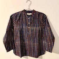 GAYA Renu, Short Kurta Shirt (Indigo Check)