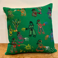 Sujini Cushion Cover 43*43 (Night of Diwali) Green