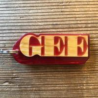 "GEE ORIGINAL KEYHOLDER  ""GEE"""