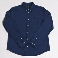 RVCA THATLL DO OXFORD L/S SHIRTS / NAVY
