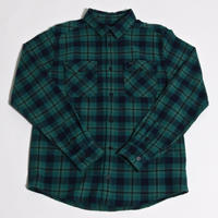 RVCA THATLL WORK FLANNEL SHIRTS / TEAL GREEN(TLG)