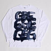 TAKAO NIIKURA × GEE ORIGINAL L/S  T-SHIRTS / WHITE