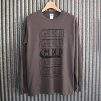 GEE ORIGINAL L/S T-SHIRTS / CHARCOAL