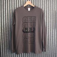 GEE ORIGINAL L/S T-SHIRTS / CHARCOAL