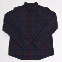 RVCA THATLL WORK FLANNEL SHIRTS / CHOXOLATE(CHO)