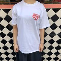 burger T-shirt White×Red