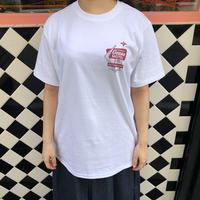 motel T-shirt White×Red