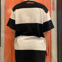 boarder  T-shirt Black×White