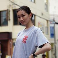 T-shirt Gray×Black