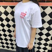 motel T-shirt White×Pink