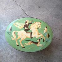 オランダ Tin缶 馬に乗った狩人『VERKADE』