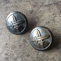 チェコのアンティークボタン 2個セット