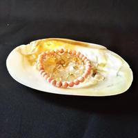 パールシェル皿とルチルクオーツさざれ石のセット
