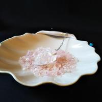 セドナの皿とローズクオーツさざれ石のセット