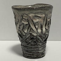 マグカップ(萩焼 / 萩焼窯元 国輔窯)  4500  ダイヤカット ロングタイプ