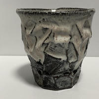 カップ(萩焼 / 萩焼窯元 国輔窯)  5000  ダイヤカット  広口タイプ