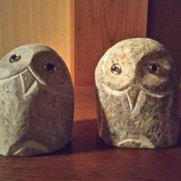 フクロウ(自然石)