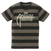 THE APOLLOS / A-LOGO ボーダーTee (チャコール×ブラック)