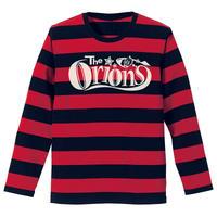 The ORIONS / O-LOGOボーダー Tee 長袖A(レッド×ブラック)
