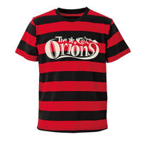The ORIONS / O-LOGOボーダー Tee A(レッド×ブラック)