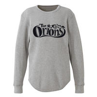 The ORIONS / ワッフル O-LOGO Tee 長袖 A(ヘザーグレー)