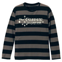 The ORIONS / O-LOGOボーダー Tee 長袖 B(チャコール×ブラック)