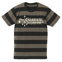 The ORIONS / O-LOGOボーダー Tee  B(チャコール×ブラック)