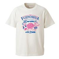 中島紅音 × 岩島のぞみ / FUJINOMIYA 3776 Tee (バニラホワイト)