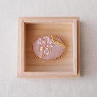 Mayumi Tomita 手刺繍枝垂れ桜帯留