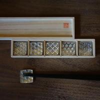 吉祥紋錫箸置きセット