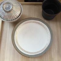 Norikazu Ogawa 白掛け銀彩中皿