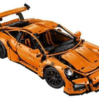 LEPIN  ポルシェ911 GT3 RS 風 オレンジ  スポーツカー LEGO互換ブロック