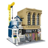 レゴ互換品 ストリートビルディング レンガ 建物