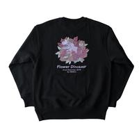 Flower Dinosaur sweat【black】