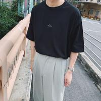 刺繍ロゴビックTシャツ(ブラック) gdg014B