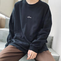 GIDEAL.オリジナルロゴ刺繍ロングTシャツ