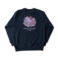 Flower Dinosaur sweat【navy】