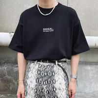 GIDEAL.21s/s 刺繍ロゴ刺繍Tシャツ【ブラック】