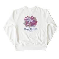 Flower Dinosaur sweat【white】