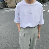 刺繍ロゴビックTシャツ(ホワイト)gdg014W
