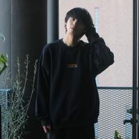 GIDEAL.20a/w刺繍ロゴスウェット(ブラック)