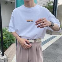 GIDEAL.21s/s 刺繍ロゴ刺繍Tシャツ【ホワイト】