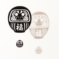 だるま福「BLACK」#paper ornament
