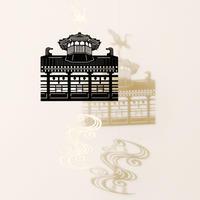 飛鳥乃湯泉「BLACK」#paper ornament