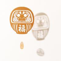 だるま福「GOLD」#paper ornament