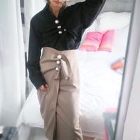 Pearl skirt -beige